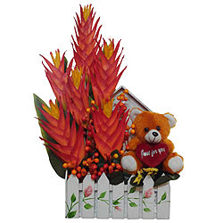 Fall in Love Artificial Flower Basket