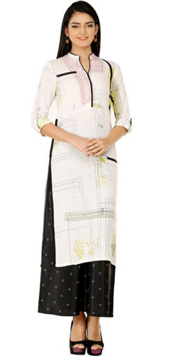 Ivory Frosted Kurti by W Lifestyle