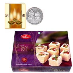 Haldiram Sona Papdi with Silver Plated Coin