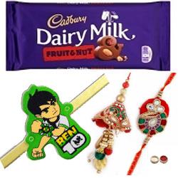 Magnetic Bhaiya, Bhabhi N Kid Rakhi With Cadbury Chocolate