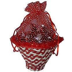Fantastic Bouquet of Chocolate in Red Pack