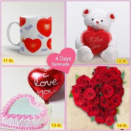 Order 4 Day Serenade Hamper for Lady Love