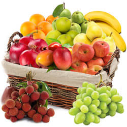 Refreshing 10 kg Fresh Fruit Basket Hamper