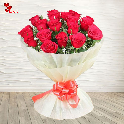 Exclusive Dutch Roses Bouquet for V-Day