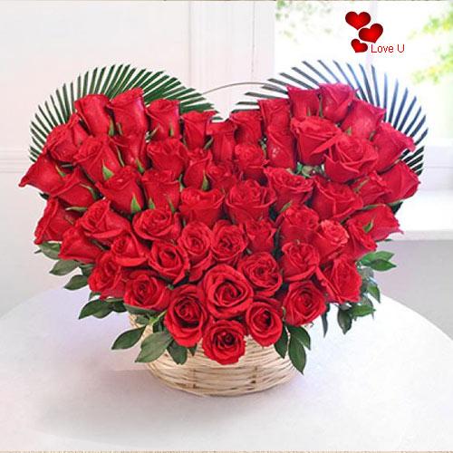 Book Heart Shape Rose Arrangement