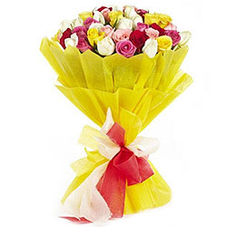 Heavenly Wishes 24 Mixed Roses Bundle