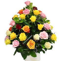 Romantic Sizzle Delight Mixed Roses Collection