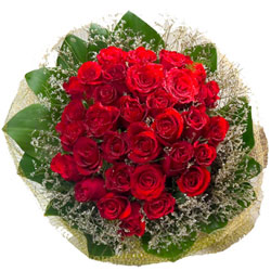 Impressive Handmade Bouquet of Red Roses