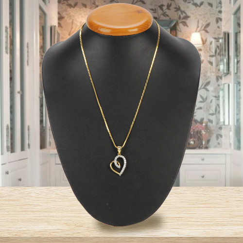 Nurtured-to-Love Heart of Gold Pendant with Chain