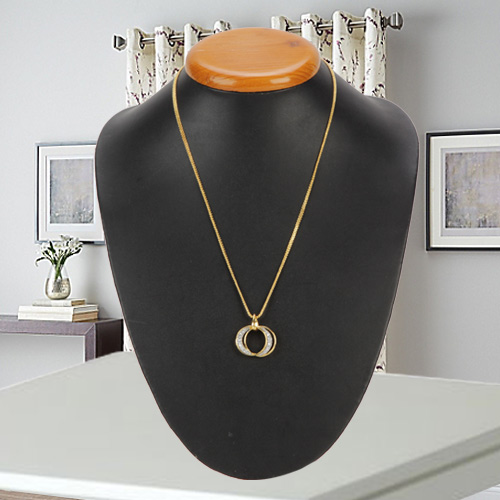 Matched-by-Cupid Stone-Primed Pendant with Chain