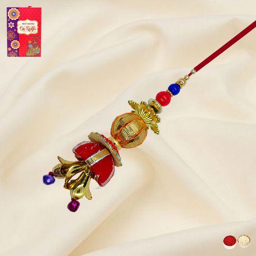 Lovely Bhabhi's Designer Festive Lumba Rakhi