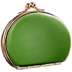 Melon Colored Clutch Styled Gebuine Leather Coin Purse from Vaunt