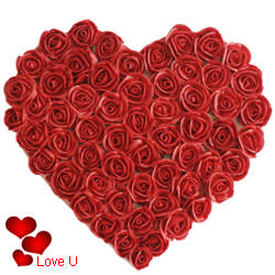 <u><font color=#008000> MidNight Delivery : </FONT></u>:Red Heart Shaped Arrangements