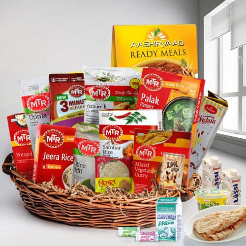 Satisfactory Indian Main Dishes Lunch Gift Basket
