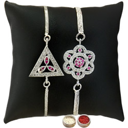 Charming Two Rhodium Plated Rakhis
