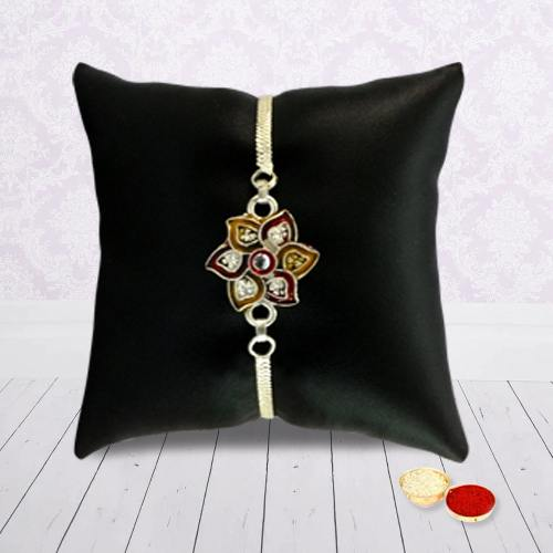 Exclusive Silver Plated Rakhi