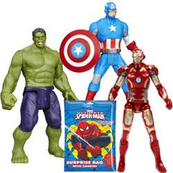 Superb Collection of Marvel Avengers Assemble Figurine Set N Spider Man Surprise Bag