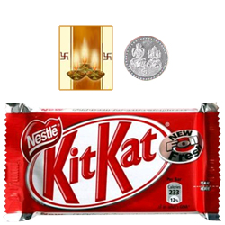 Kitkat Chocolate Bar ( 57 Gms.) with free Siver Plated Coin and Diwali Card.