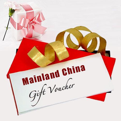 Mainland China Gift Vouchers Worth Rs.2500