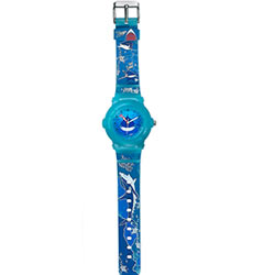 Dazzling Oceanic Printed Blue Coloured Watch for Kids Brought to Yoy by Titan Zoop