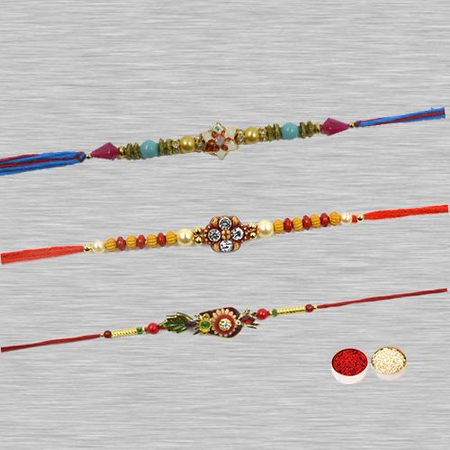 Attractive Fancy Zardozi Rakhi