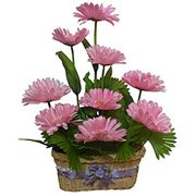 Romantic Thrill Artificial Gerbera Basket