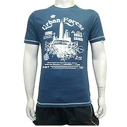 Stylish Blue Round Neck T Shirt