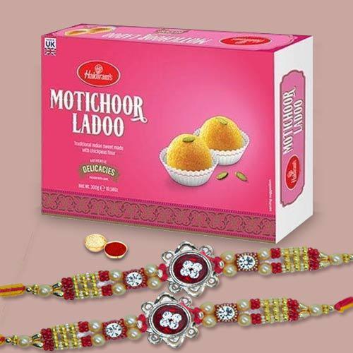Exclusive Rakhi Set And Motichoor Laddoo