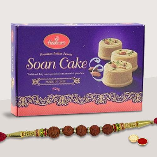 Exclusive Present of 1 Rakhi with Delicious Soan Cake