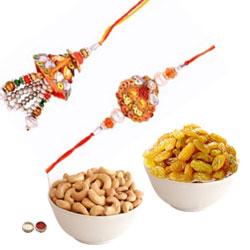 Classy Bhaiya Bhabhi Rakhi With Cashew, Raisin