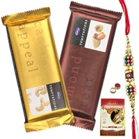 Lovely Cadburys Temptations with Free Kids Rakhi, Roli Tilak and Chawal