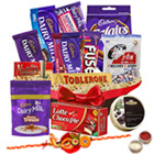 Appetite�s Fun Chocolate Assortment with One Rakhi and Roli Tilak Chawal