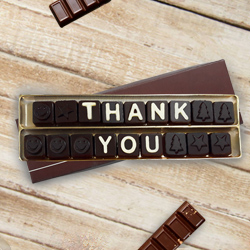 Homemade Chocolate with Sorry Message