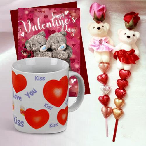 Special Combo of Teddy N Handmade Chocolates in a stick