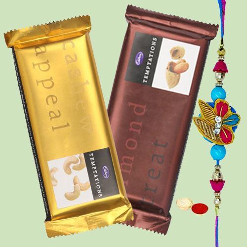 Cadburys Temptations with 1 Regular Rakhi and Roli Tilak Chawal