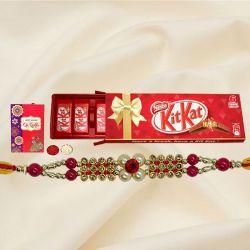 Kitkat Family Pack Chocolate Box (6 bar) with Rakhi
