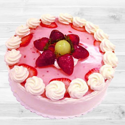 Relishing Strawberry Cake (1Lb) to Gandhi Nagar Bazar
