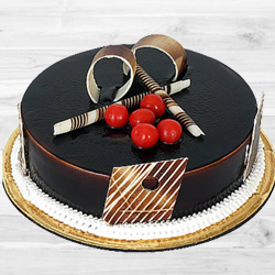 Amazing 1 Lb Dark Chocolate Truffle Cake to Shahdara Mandi