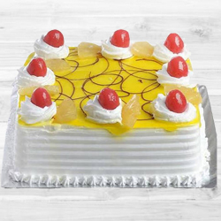 Eggless Pineapple Cake (1Kg) to Palam Airport