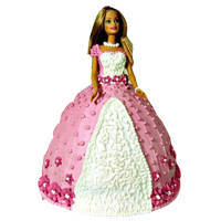 Lip Smacking Barbie Cake to Andrewsganj