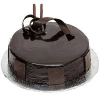 Decorating Closeness 1 Lb Birthday Dark Chocolate Cake  from 3/4 Star Bakery
