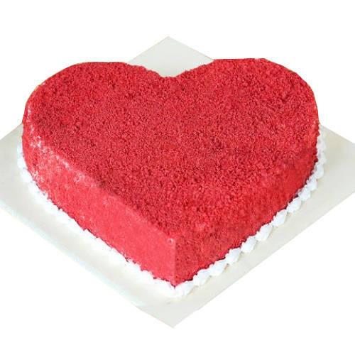 Book Red Velvet Cake in Heart Shape Online