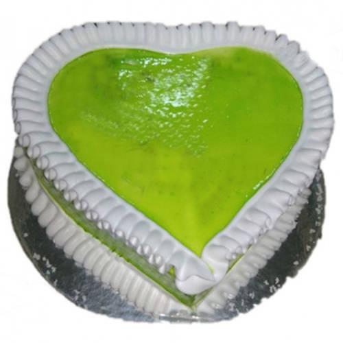 Deliver Kiwi Cake in Heart Shape Online