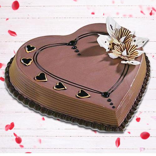 Book Online Coffee Cake in Heart Shape