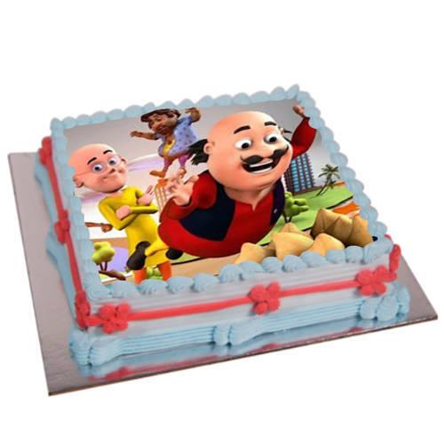 Send Motu Patlu Photo Cake for Kids Online