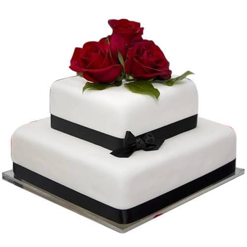 Online 2 Tier Wedding Cake