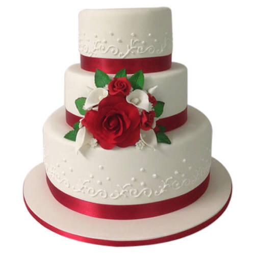 Book Online 3 Tier Wedding Cake