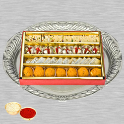 Haldirams Assorted Sweets N Thali with Roli Tilak and Chawal