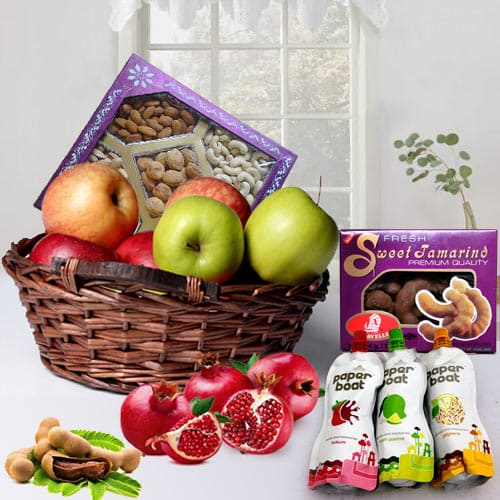 Delicious Happiness Everywhere Fruits N Dry Fruits Hamper
