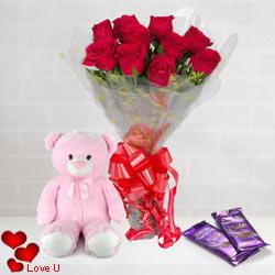 Cheery Cuddle Valentine Cluster